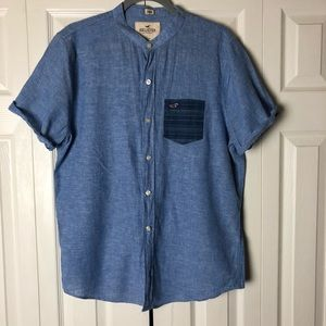 Hollister Denim Slim Fit Shirt